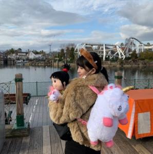 モモ ユニバ 休暇 可愛い 画像
